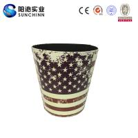Muticolored PU Leather Printing Dustbin/Trash Can/ Container/Paper Holder for Storage