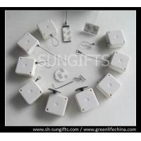Wholesale White square security tether, hot sale anti-theft retractors from china suppliers
