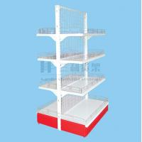 Wholesale Easily Assembly Multipurpose Back Net Double - Side Metallic Supermaket Shelf from china suppliers