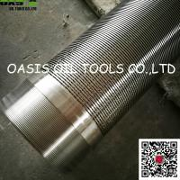 Wholesale 316L welded coupling deep well Johnson type water well screen pipes from china suppliers