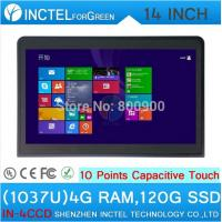 Wholesale Latest 14 inch embedded all in one pc touch screen all in one pc with1037u 4G RAM 120G SSD from china suppliers