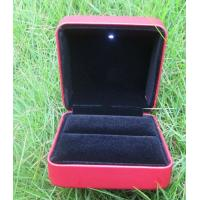 Wholesale Red Leather Pu LED Light Box / Led Engagement Ring Box For Bracelet Bangle Earring from china suppliers