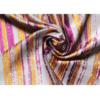 Wholesale Dresses Striped Jacquard Woven Fabric High End Organza Purple from china suppliers