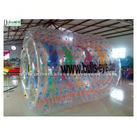 Wholesale Funny Kids Inflatable Zorb Balls Clear Water Roller Ball With Colorful Ribbons from china suppliers