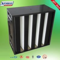 Wholesale F6 F7 F8 F9 Medium Efficiency Combined Carbon Air Filter / V Shape Air Filter from china suppliers