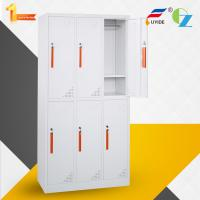 2 door steel locker for employee changing clothes/storage shoes/storage private goods/whtie color/KD structure