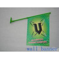 Wholesale Custom PVC Wall Mounted Shop Front Flags With Pole Dye Sublimation from china suppliers