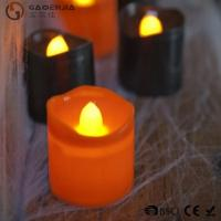 Wholesale Black Orange Plastic Halloween LED Tea Light Candles 6 Set RoHS from china suppliers