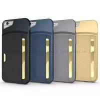 Quality mobile phone card holders case for iphone 6,PU+PC material,colors,anti-shock,various models for sale