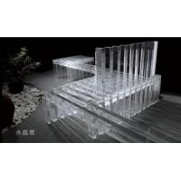 Wholesale 100MM Tempered Glass Furniture , Crystal Glass Sofa For Hotel or Salon from china suppliers
