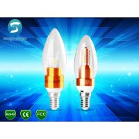 Wholesale Golden Candle Light Lamp 5W For Chandelier / Decorative Candle Light Bulbs CE from china suppliers