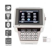 Wholesale Premiere - Dual SIM Quadband Stainless Steel Cell Phone Watch (WiFi, JAVA, MP3 ) 218361 from china suppliers