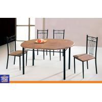 Wholesale MDF Board Top Dinning Table And Chairs Set With 4 Chairs Metal Leg Home Furniture from china suppliers