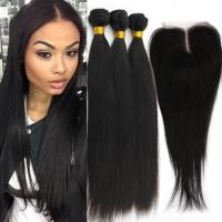 Wholesale Remy Human Double Weft  Virgin Cambodian Loose Wave Hair Natural Black from china suppliers