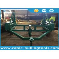 Wholesale 12 Ton Load Capacity Underground Cable Tools Cable Drum Carrier With Surface Treatment Spray Paint from china suppliers