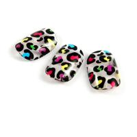 Wholesale Full Cover Art Acrylic Fake Nails , Crackle Nail Tips Artificial Fingernails from china suppliers