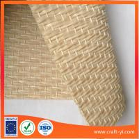Wholesale creamy white PP woven fabric in Textilene PVC coated mesh fabric weave for mat from china suppliers