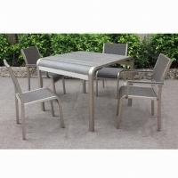 Wholesale Aluminum Square Dining Table, Suitable for Outdoor and Indoor Use, Outdoor Furniture from china suppliers