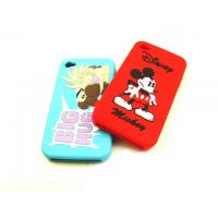 Wholesale White / Black / RED Cell Phone Silicone Cases With Mickey Pattern, Screen Print Logo from china suppliers