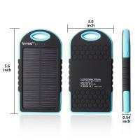 Wholesale 5000mah Solar Powered Cell Phone Charger Fast Charging Real Capacity from china suppliers