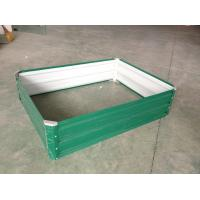 Wholesale Green Raised Garden Beds For Vegetable , Metal Garden Planter Boxes from china suppliers