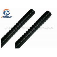 Quality Black Finished All Threaded Bar , Grade 5 Grade 8 Full Black Threaded Rod for sale