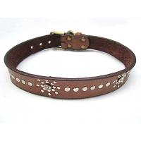Wholesale Indian leather dog collar with PU material 2 colors from china suppliers