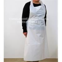Wholesale Flat Protection White Color Disposable Medical Aprons 0.01-0.1mm Thickness from china suppliers