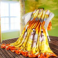 Wholesale Colorful Decorative Polyester Throw Blanket With Woven , Aniaml Printed from china suppliers