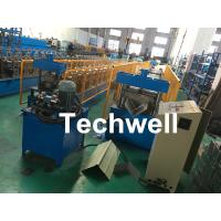 Wholesale Roof Ridge Cap Roll Forming Machine With Single Chain Transmission , 15 Stands of Forming Stations from china suppliers