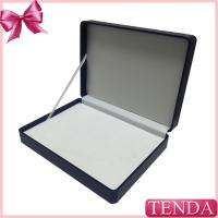 Wholesale White Brown Black Blue Hinged Ribbon Package Leatherette Leather Box with PVC PET Blister from china suppliers