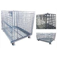 European large steel mesh pallet wire cage wire mesh container storage