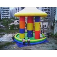 Wholesale 3 In1 Inflatable Bungee Tranpoline With Cover For Inflatable Amusement Park from china suppliers
