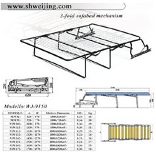 Sofa bed mechanism of item 95631522 for Sofa bed mechanism