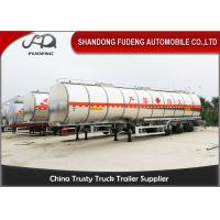 Wholesale Aluminum Alloy 38000L Gasoline Fuel Tanker Semi Trailer 10000 Gallon from china suppliers