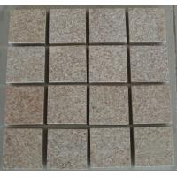Wholesale Pink Rectangular Granite Paving Stone, angular pink granite pavers from china suppliers