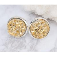 Wholesale Raw Stone Stud Druzy Stud Earring Fashion Women Unique Stud Earrings For Engagement from china suppliers