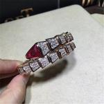 Bvlgari diamond snake Bracelet 18k gold white gold yellow gold rose gold diamond Bracelet
