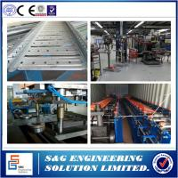 Wholesale Auto Galvanized Steel Cable Tray Roll Forming Machine PLC System With Touch Screen from china suppliers