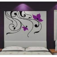 Wholesale Purple Tree Vine PVC Decorative Wall Flower Stickers F191 from china suppliers