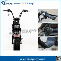 Wholesale two wheels Citycoco 1000W 60V adult electric scooter battery box removable from china suppliers