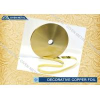 Wholesale Rolled Brass Decorative Copper Foil With Ordinary Thickness 0.01mm , 0.012mm , 0.015mm from china suppliers