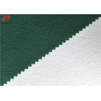China Polyester Tricot Fleece Fabric Warp Knitting Brushed School Uniform Material for sale