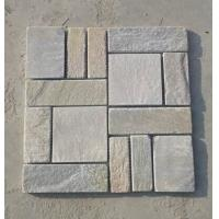 Wholesale Natual Yellow Quartzite Flagstone Wall P014 Yellow Quartzite Flagstone Paving Stone Patio from china suppliers