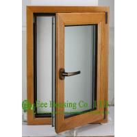 Wholesale Casement Type Wood Aluminum Window, Insulating Double Glass(Inside is natural wood) from china suppliers