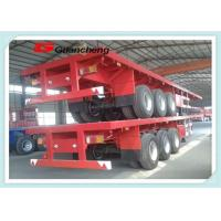 Wholesale 60ton Tri - Axle Flatbed Chassis 40ft Heavy Duty Semi Trailer For Cargo Transport from china suppliers