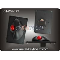 Wholesale 39MM Resin Trackball With Black Metal Mounted Panel , Industrial Computer Mouse from china suppliers