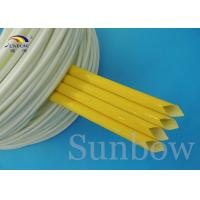 Wholesale Fray resistant Saturated Silicone Fiberglass Sleeving , heat proof cable sleeve from china suppliers