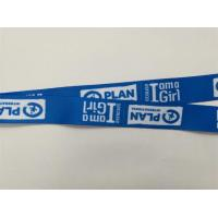 Quality Blue Color Dye Sublimation Lanyards , Customized Id Neck Lanyard Heat Transfer Printing for sale