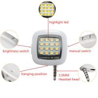 Wholesale LED FLASH light for Camera Mini Selfie Sync for IOS Android with USB Cable GK-FL01 from china suppliers